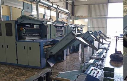 Algeria Zigzag cotton wool production line
